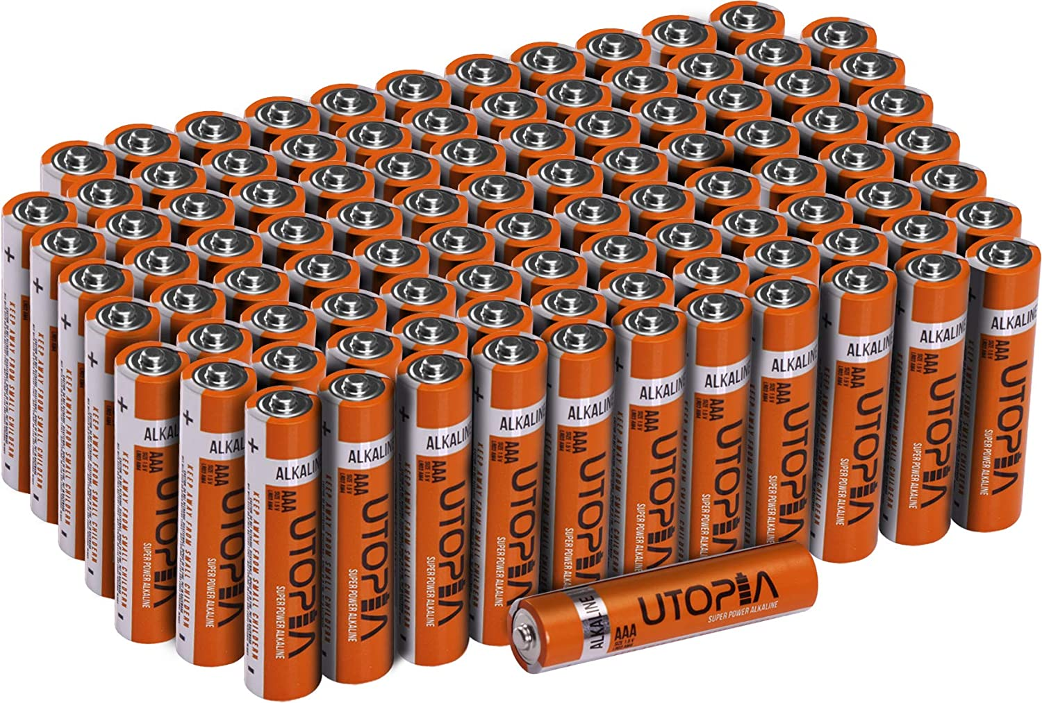 Utopia Home Alkali Battery - Long Lasting Performance - Perfect for Daily Use (AAA - Pack of 100) UH0556