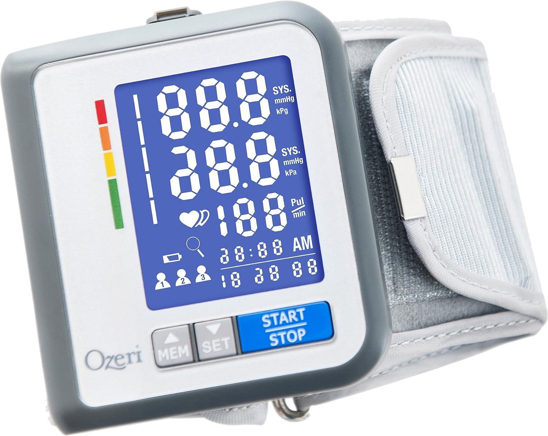 Monitor de presión sanguínea recargable Ozeri CardioTech Travel Serie BP6T con indicador de hipertensión: Amazon.es: Salud y cuidado personal