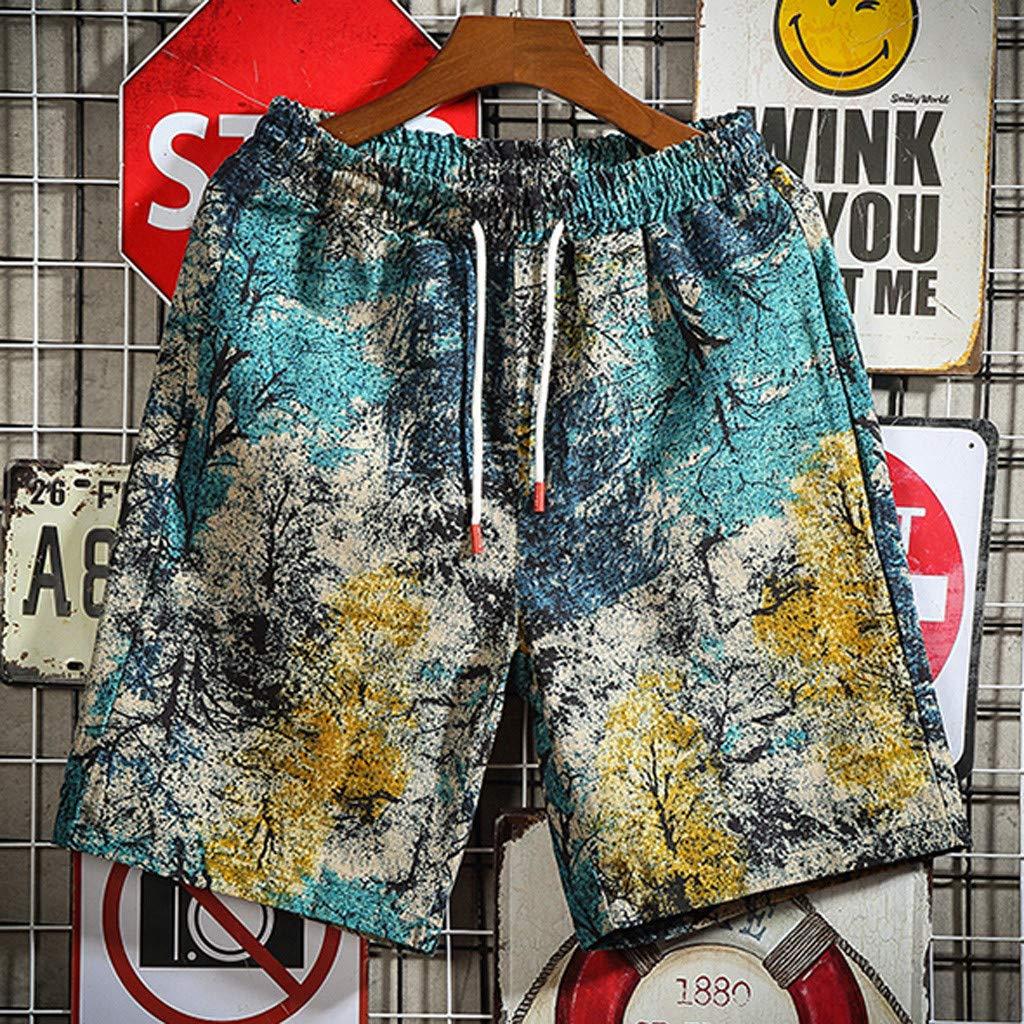 DODUMI Maillot De Bain Pantalon Short De Bain Homme Orange Homme Short Bain Shorts S/éChage Rapide Respirant Exercice Shorts Etanche