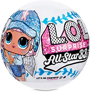 L O L Surprise All Star B B S Sports Series 1 Baseball Sparkly Dolls With 8 Surprises Toys Games
