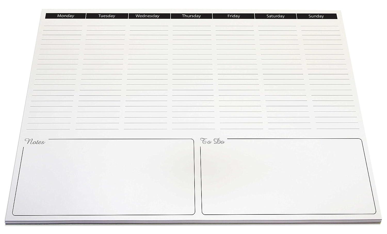 formato A3 sviluppo verticale Blocco da scrivania con giorni della settimana