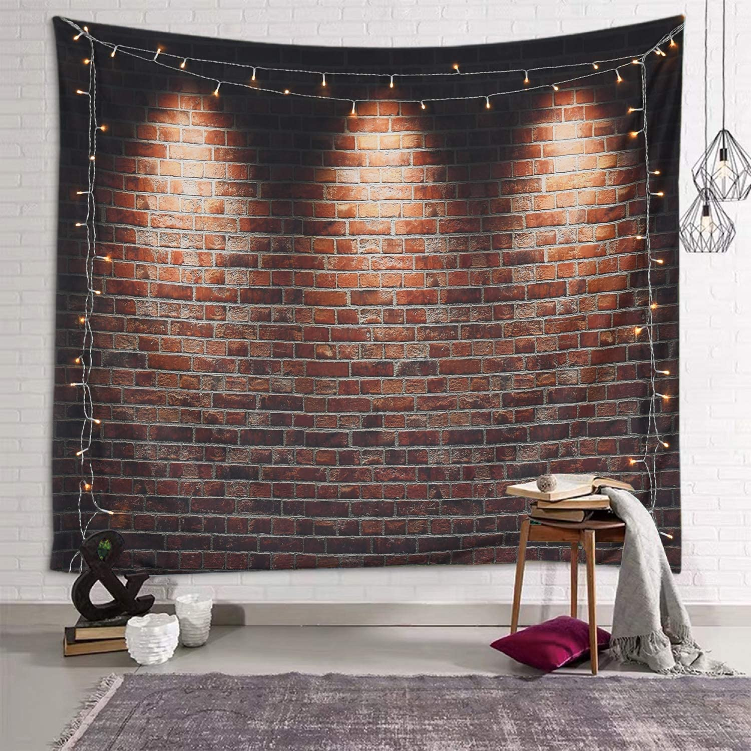 Amazon Com Sevendec Brick Tapestry For Bedroom Aesthetic Wall Tapestry Indie Room Decor For Livingroom Dorm Home W78 X L71 Everything Else