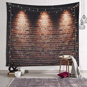 Sevendec Brick Tapestry for Bedroom Aesthetic Wall Tapestry Indie Room Decor for Livingroom Dorm Home W59