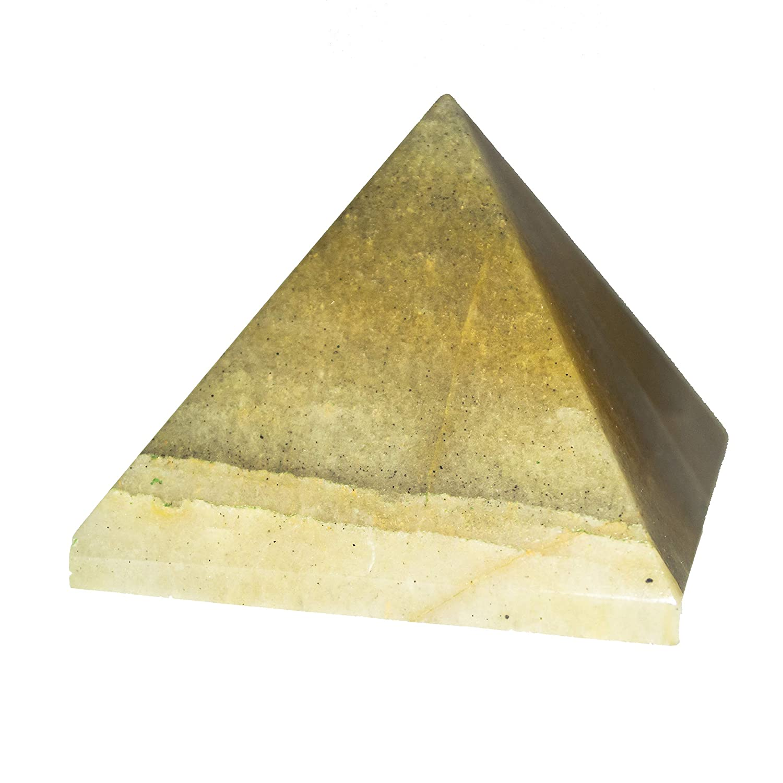 Yellow Aventurine Gemstone Orgone Pyramid Reiki EMF Protection Size 1 Inch