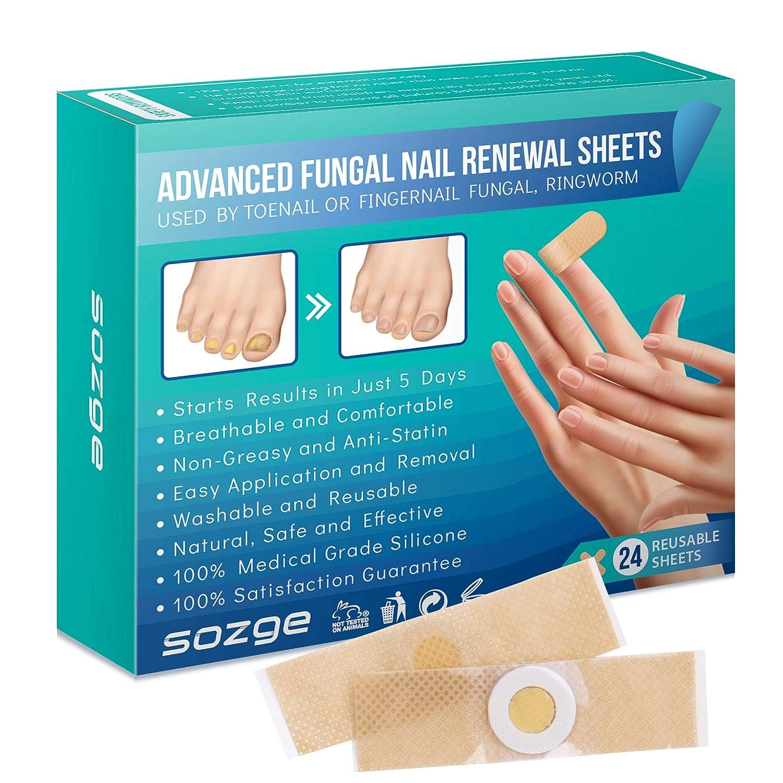Nail Renewal Sheets 24 Pads 2 In 1 Purpose Stops Fungus Ringworm Toenails And Fingernails