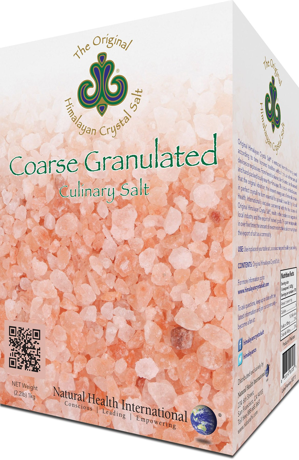 Original Himalayan Crystal Salt - Coarse Granulated, 2.2lb (1kg) - Culinary Salt for Healthy Cooking - Mineral Rich Salt with Great Flavor