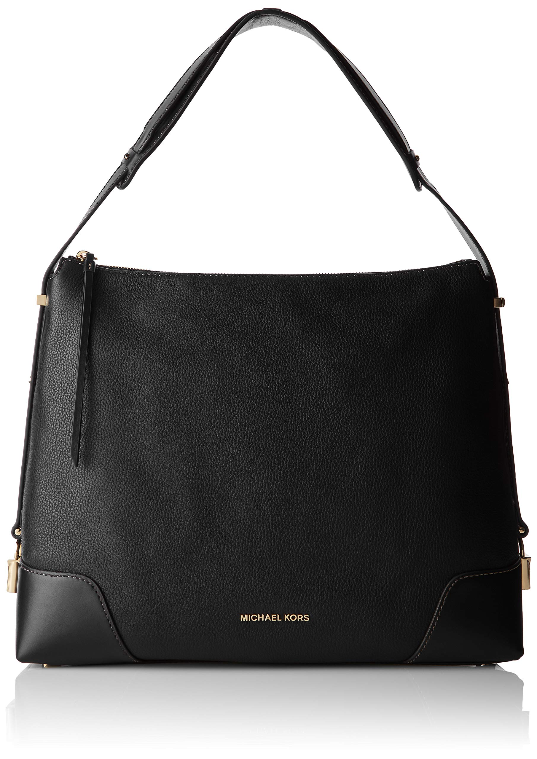 Michael Kors Womens Crosby Shoulder Bag Black (Black)