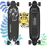 Electric Skateboard with Remote, 400W Brushless Motor Electric Longboard, 20 MPH Top Speed, 10 Miles Range, 3 Speeds…
