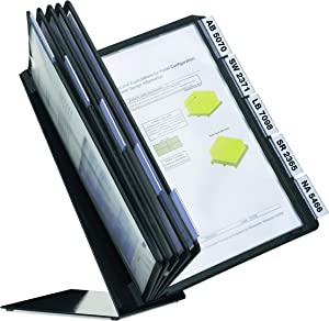 DURABLE Desktop Reference System, 10 Double-Sided Panels, Letter-Size, Black, Vario Design (552201)