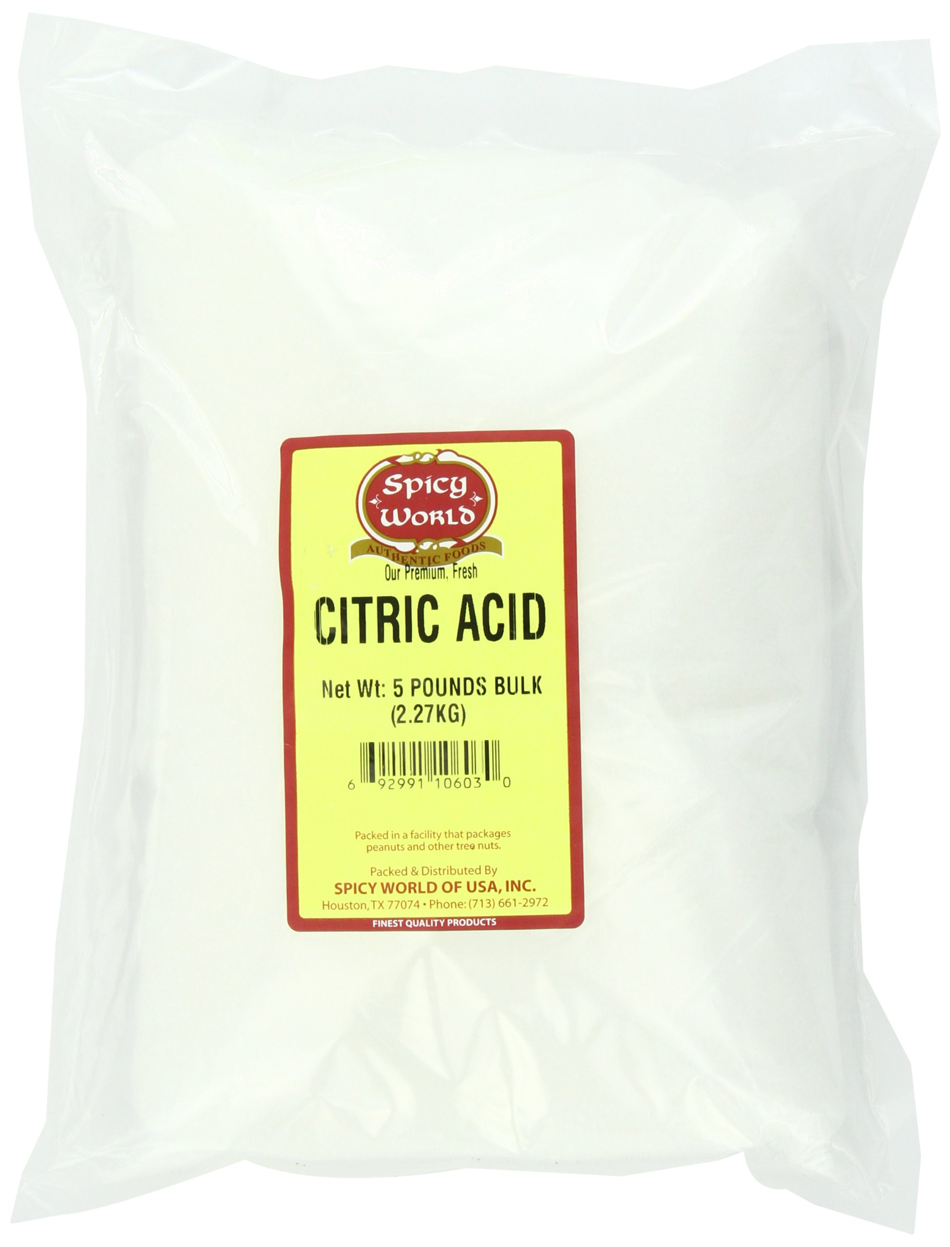 Spicy World Citric Acid, 5-Pound (Food Grade, NON-GMO)