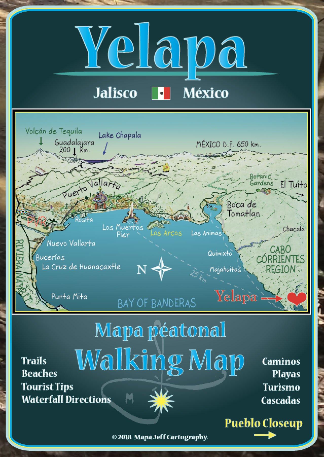 Yelapa Walking Map Map – Folded Map, 2015