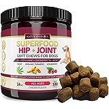 Natural Genius Hemp Hip & Joint Supplement for Dogs   180 Soft Chews Treats - Glucosamine, Chondroitin, MSM, Turmeric, Hemp & Konaberry   Arthritis Support & Pain Relief for Senior Dogs - All Breeds