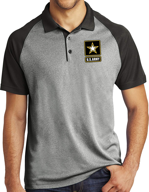 Buy Cool Shirts US Army Raglan Polo Pocket Print
