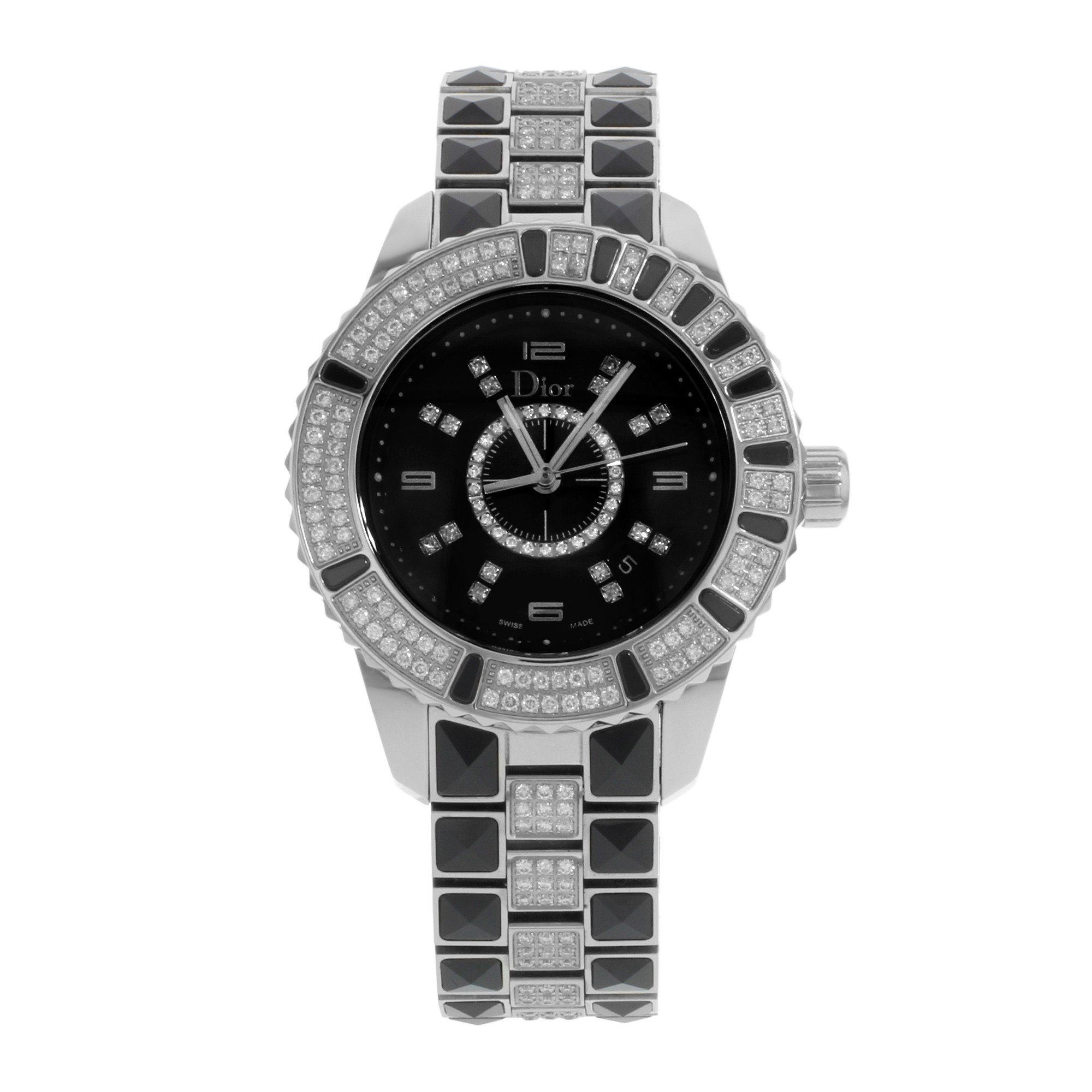 Dior Christal quartz womens Watch CD11311DM001 (Certified Pre-owned)