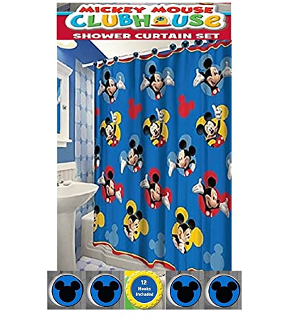 Mickey Mouse Shower Curtain Blue