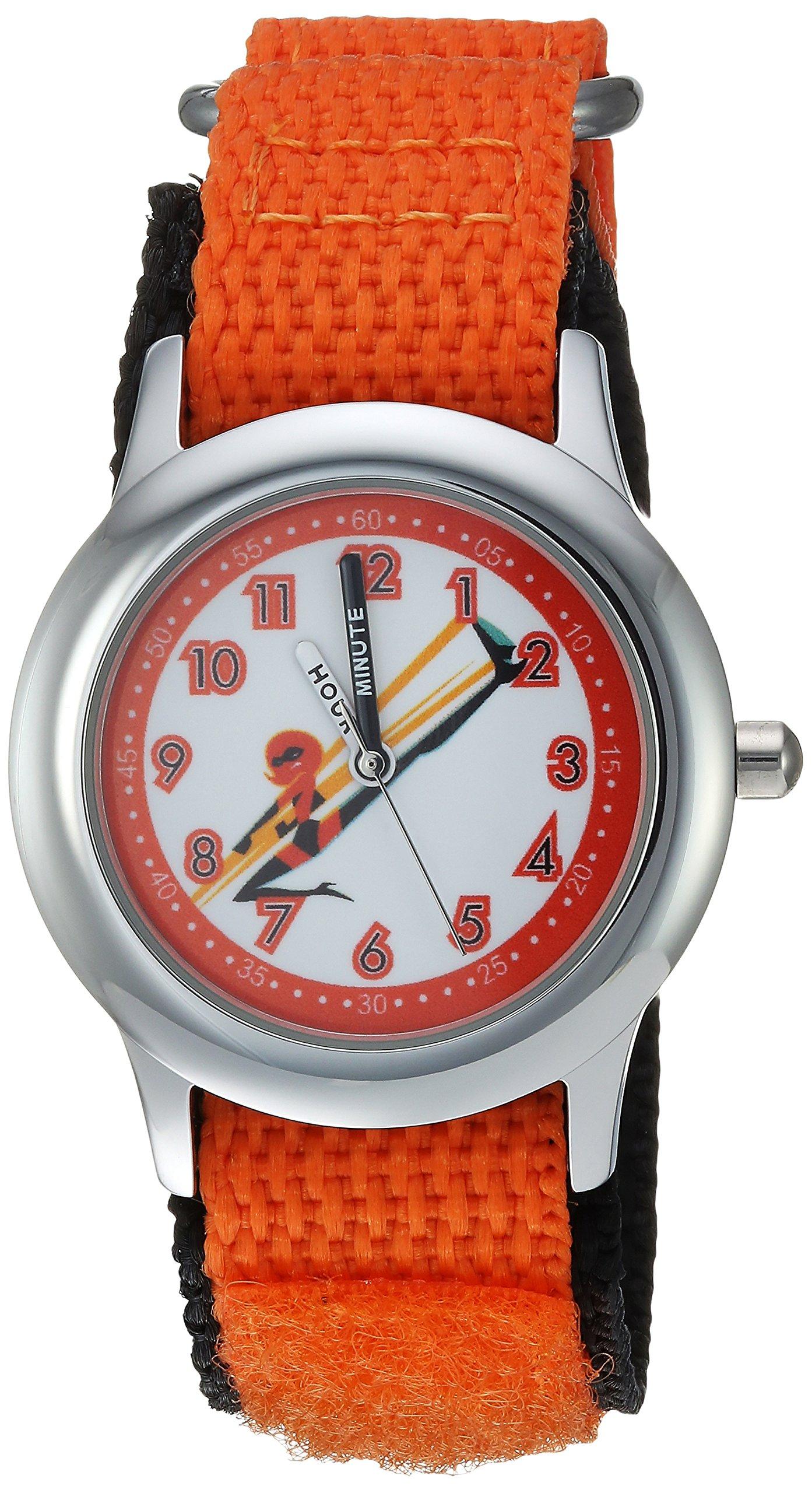 Disney Kids' WDS000575 Disney The Incredibles 2 Analog Display Analog Quartz Orange Watch