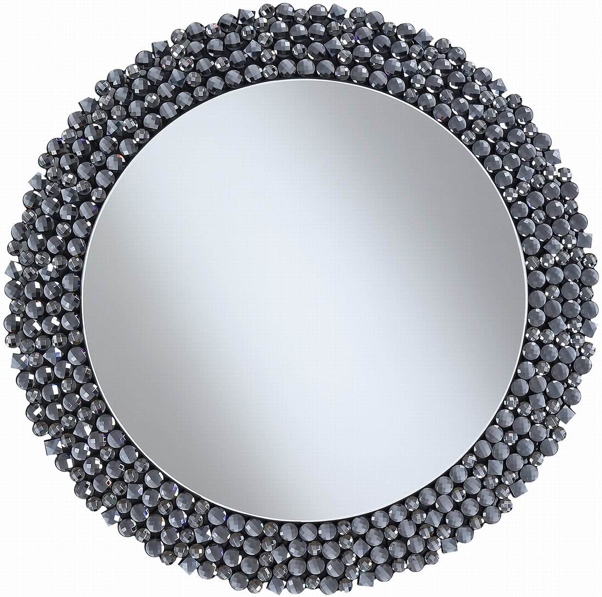 Coaster Home Furnishings Coaster Contemporary Silver Round Wall Mirror