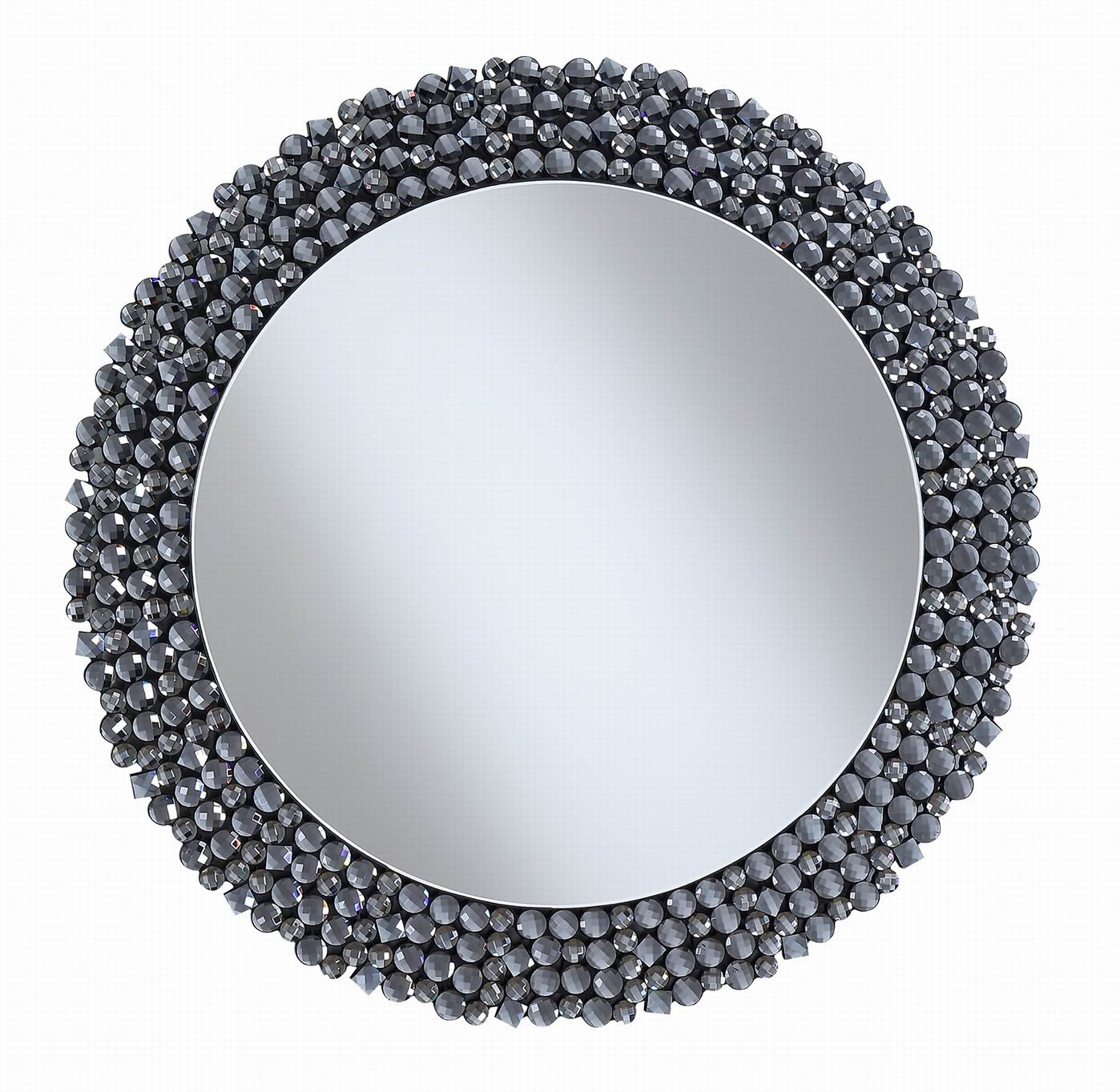 Coaster Home Furnishings 960077 Coaster Contemporary Silver Round Wall Mirror