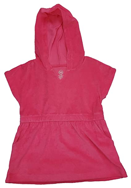 a6a193d7a9229 Amazon.com: Wonder Nation Little Girls Toddler Hooded Swimsuit Cover Up:  Clothing