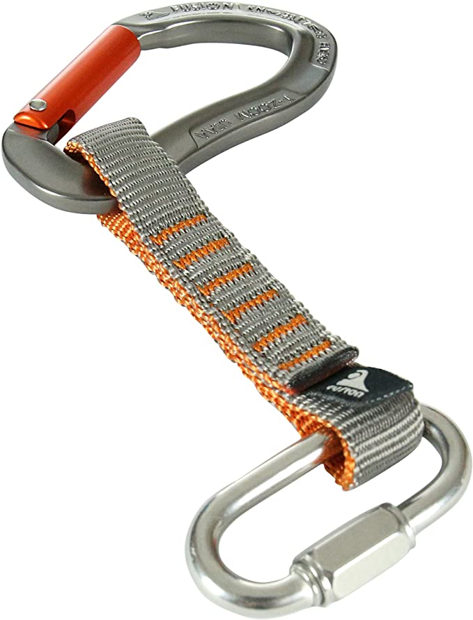 Details about  /Fusion Climb Zoom Aluminum Straight Gate Ergonomic Carabiner 5-Pack MADE IN USA