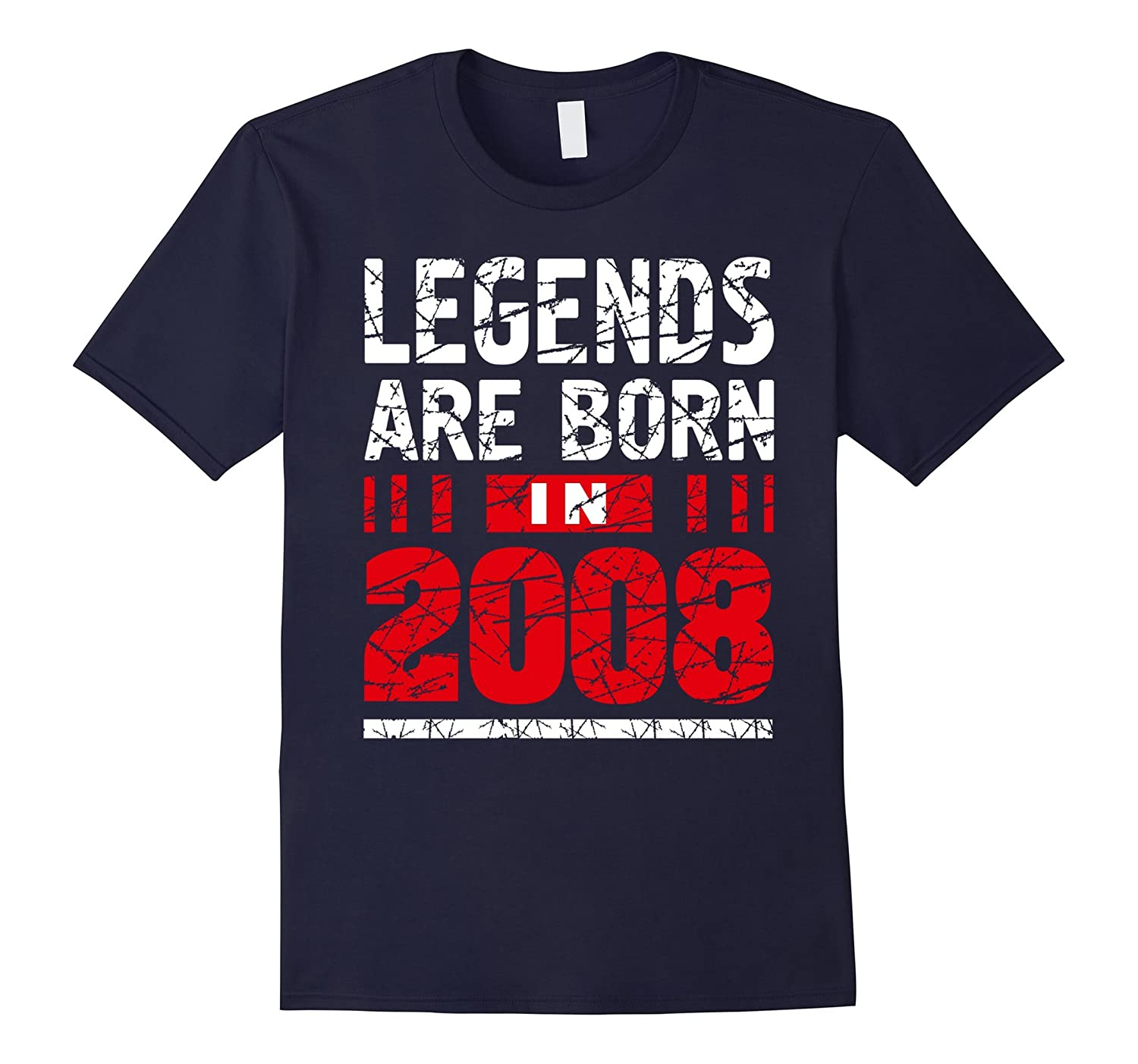 9 years old 9th Birthday B-day Gift Legends 2008 T Shirt-RT