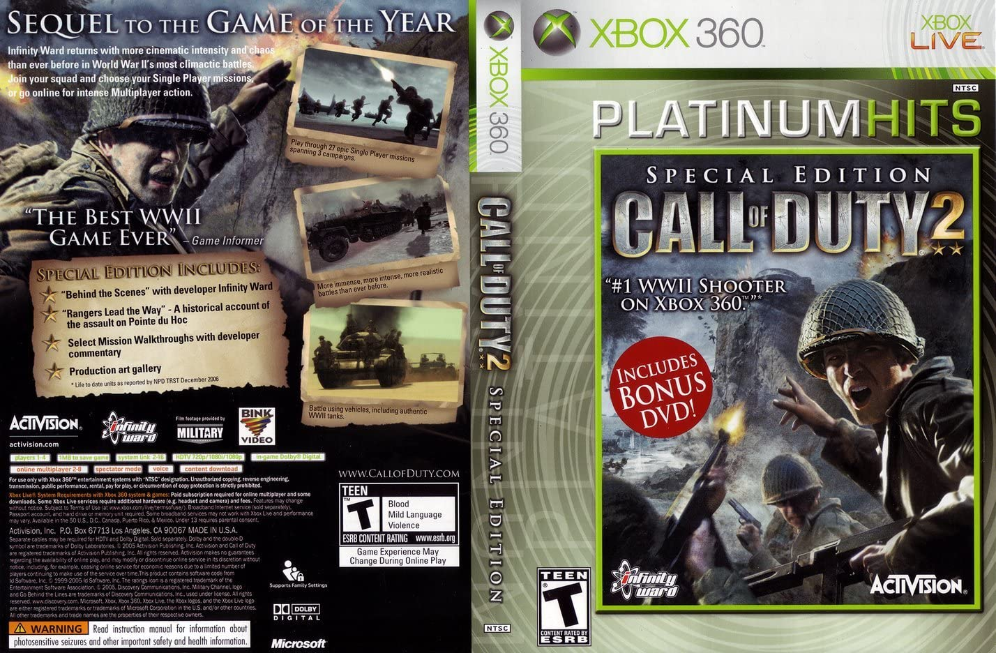 Amazon com: Call of Duty 2 Special Edition - Xbox 360: Video