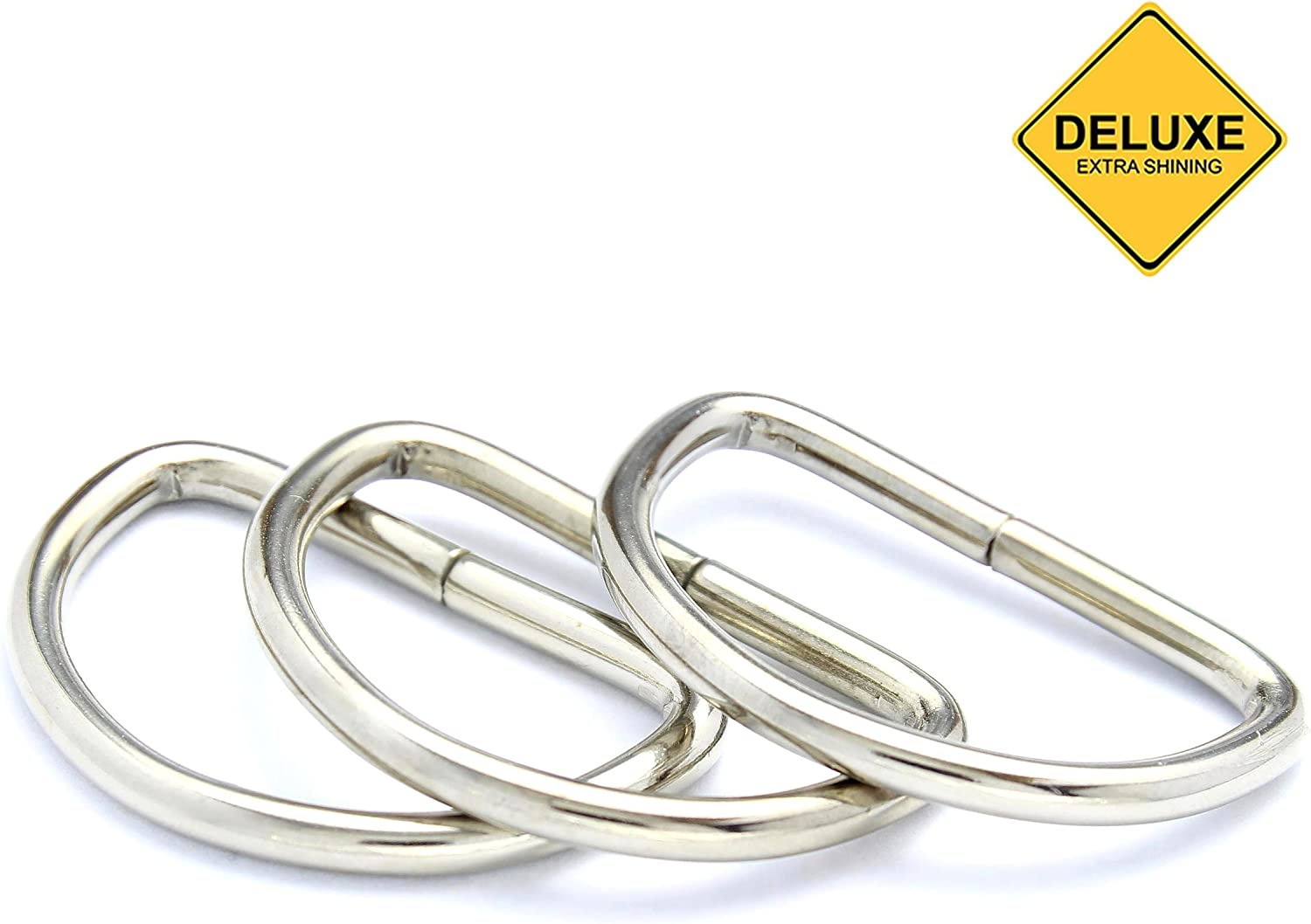 Bags and Purse Handles 40mm Metal D-Rings Buckles for Webbing Strap Tape 10