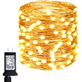 55FT 150LED Fairy Lights Plug in, Upgraded Super Bright 8 Modes Fairy String Lights Indoor/Outdoor, Waterproof Decorative Cop