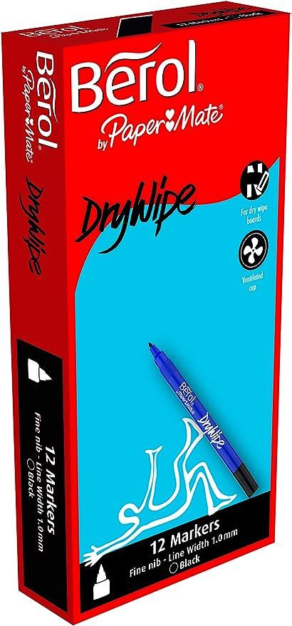 1* Black White Board Marker Dry Pen Mit Radiergummi Easy Wipe Briefpapier