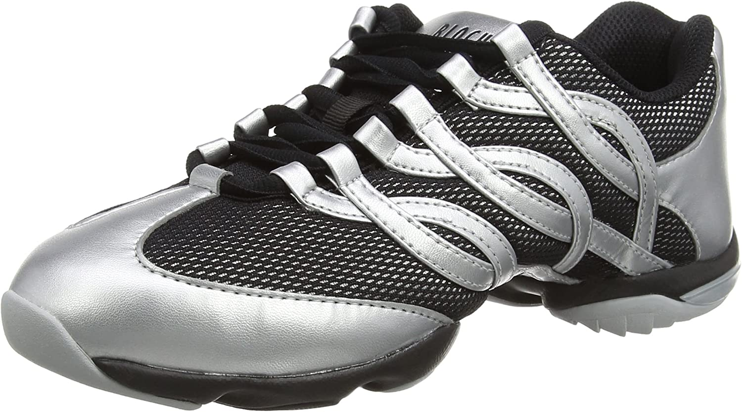 Various sizes S0522 White and Black Bloch Twist split sole dance sneakers