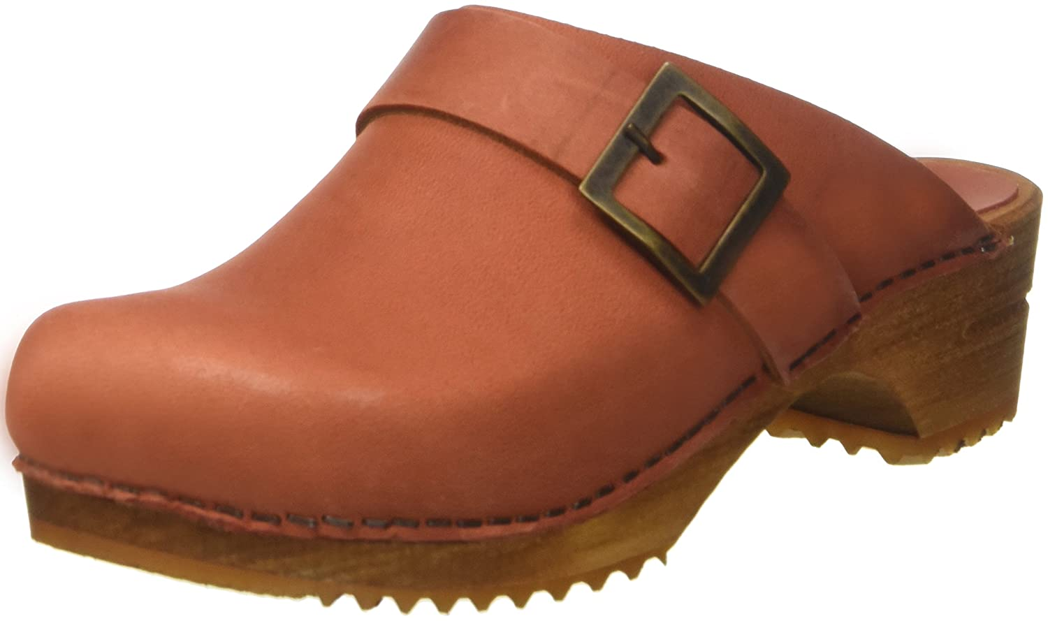 Rot (Burned Orange) Sanita Damen Urban Open Clogs
