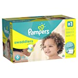 Amazon Price History for:Pampers Swaddlers Disposable Diapers Size 6, 144 Count, ONE MONTH SUPPLY