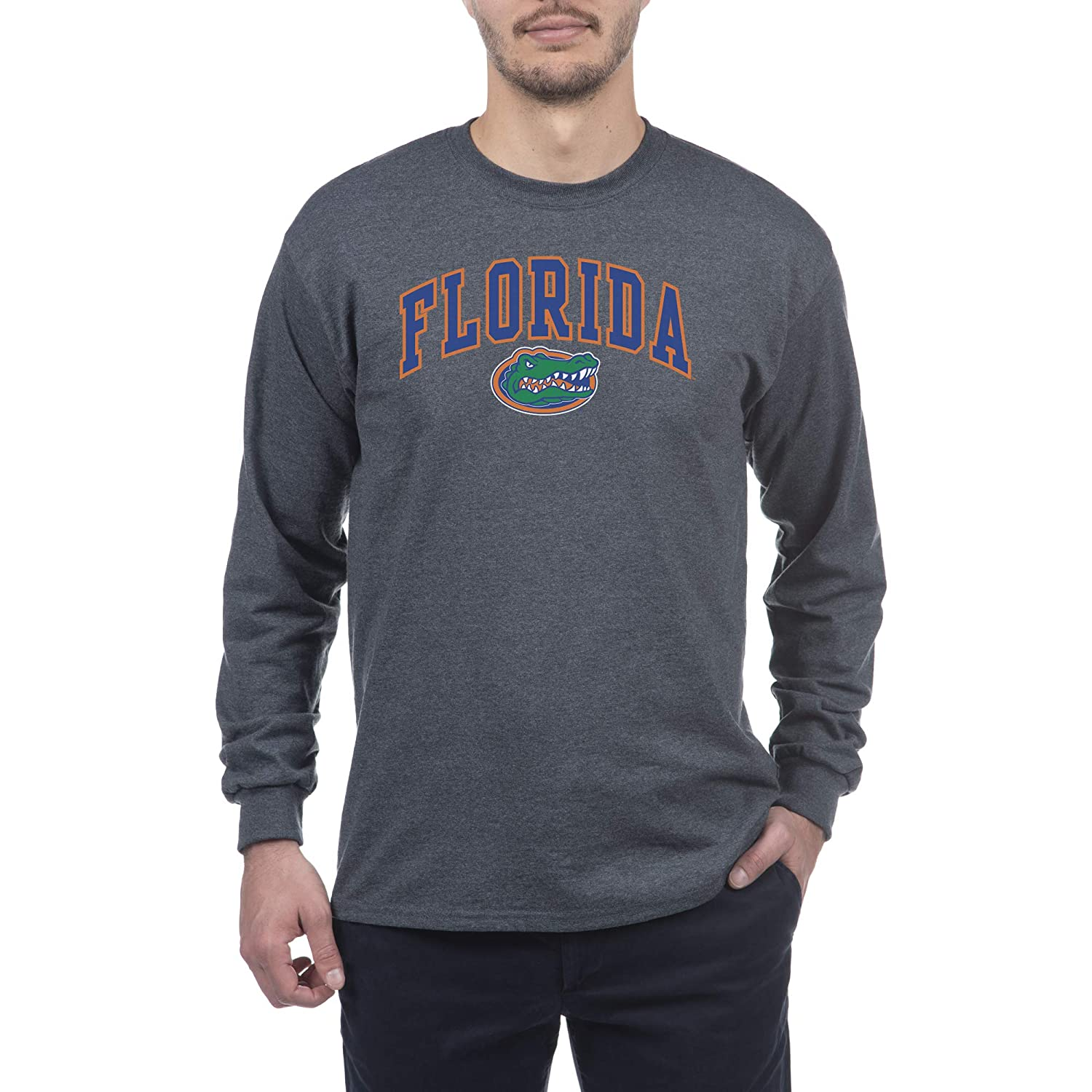 Elite Fan Shop NCAA Men's Long Sleeve Shirt Dark Charcoal Gray