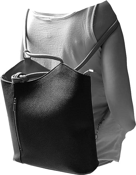 Freyday 2 in 1 Handtasche-Rucksack Henkeltasche aus Echtleder in versch Designs
