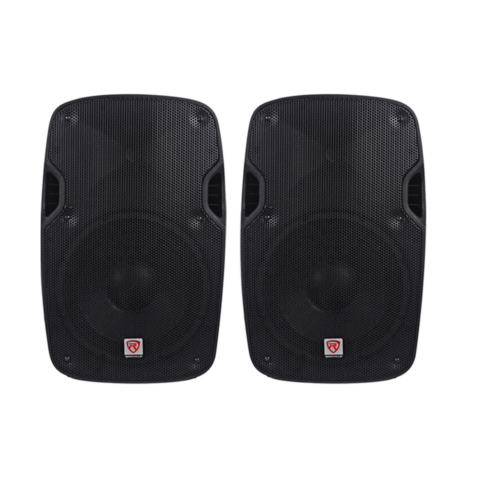 (2) Rockville SPGN108 10'' Passive 8 Ohm Lightweight DJ PA ABS Cabinet Speakers Totaling 1600 Watt With 2'' Aluminum Voice Coil For Amazing Sound Clarity