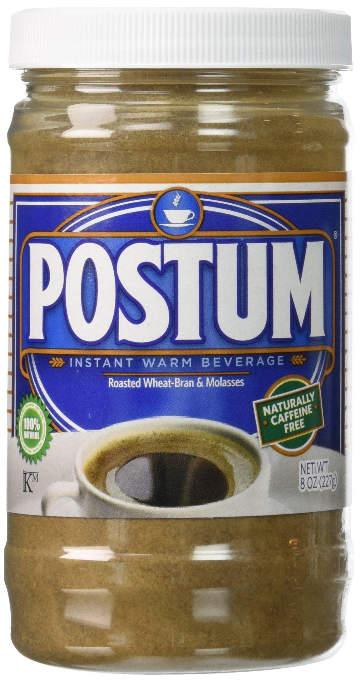 Postum Instant Hot Beverage, Original, 8 Ounces, Pack of 6