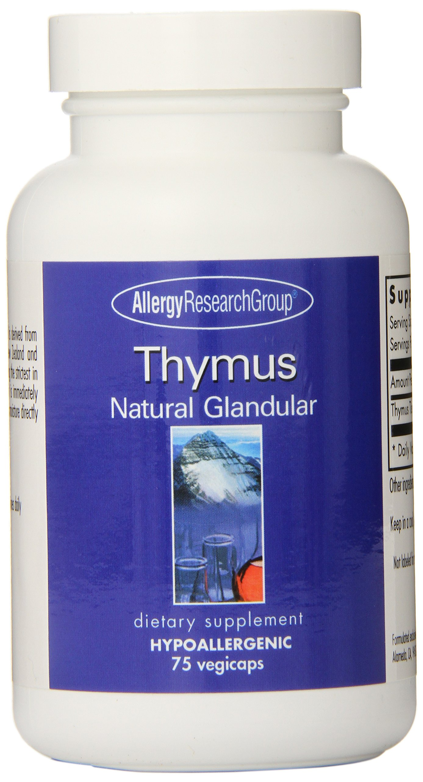 Allergy Research Group - Thymus 1000 mg 75 caps by Allergy Research Group