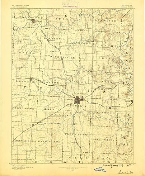 Sedalia Missouri Map.Amazon Com Yellowmaps Sedalia Mo Topo Map 1 125000 Scale 30 X 30