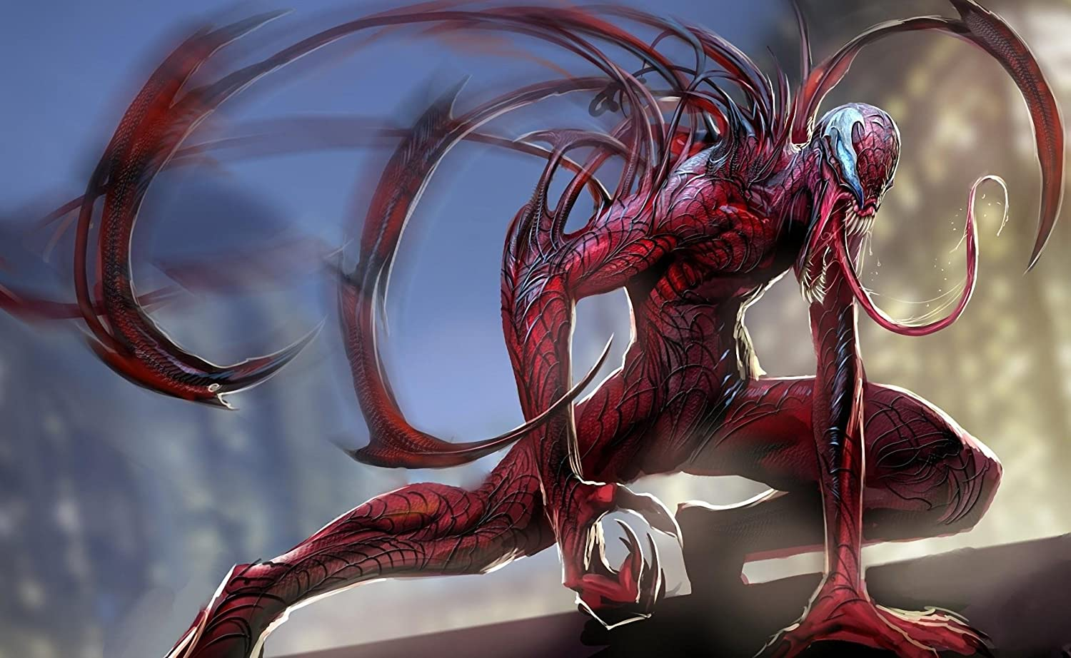 RFG REMOVE FROM GAME Carnage Spiderman Playmat 24 x 14 inch Mousepad for Yugioh Pokemon Magic The Gathering