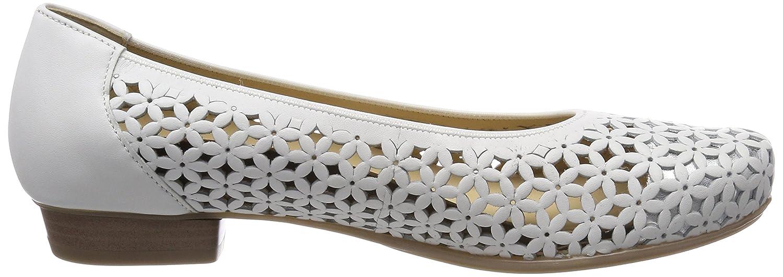 Ara Damen (Weiss, Perugia Geschlossene Ballerinas Weiß (Weiss, Damen Silber) fc45a9