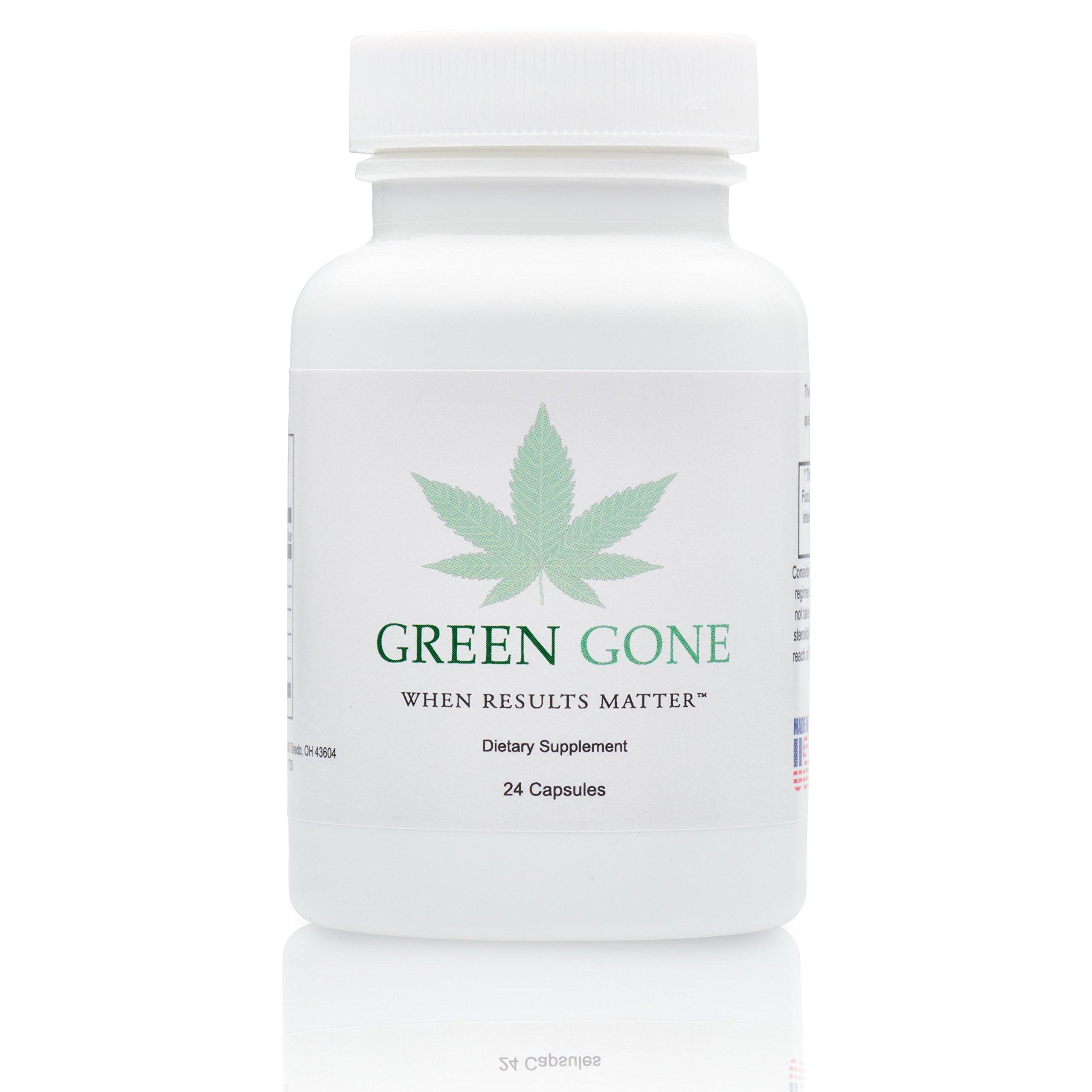 Green Gone 2 Day Emergency THC (Marijuana) Detox Kit - Permanent Cleanse, With 5 Free THC Test Strips!