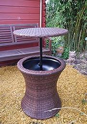 blumfeldt beerboy mini tisch gartentisch stand und beistelltisch mit getr nkek hler f r pool. Black Bedroom Furniture Sets. Home Design Ideas