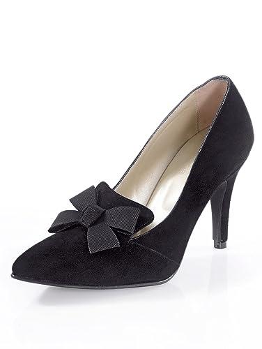 Damen Pumps mit schmückender Schleife: : Schuhe