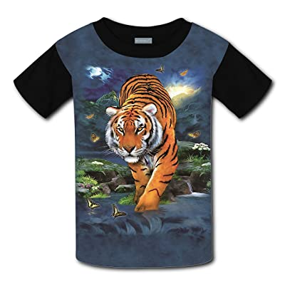 Mmm fight 3D Tiger Light Weight T-Shirt 2017 The Latest Version For girlsfree Postage