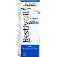RestivOil Olio Shampoo per Cute Sensibile, Antiforfora per Capelli da Normali a Grassi, senza Agenti Schiumogeni e Aggressivi, 250 ml