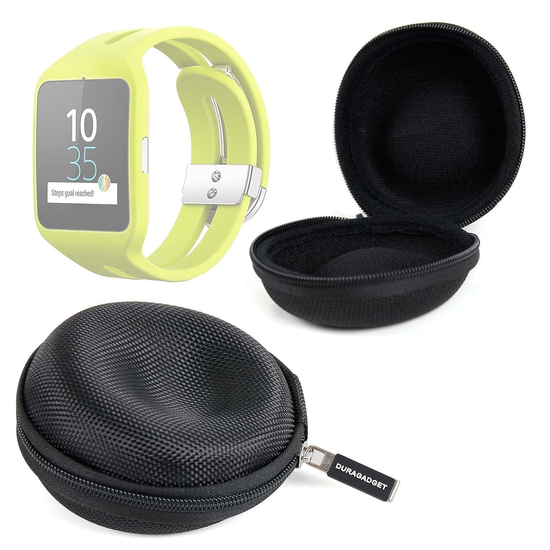 DURAGADGET Funda Negra para Reloj Sony Smartwatch 3 Sport | Garmin ...