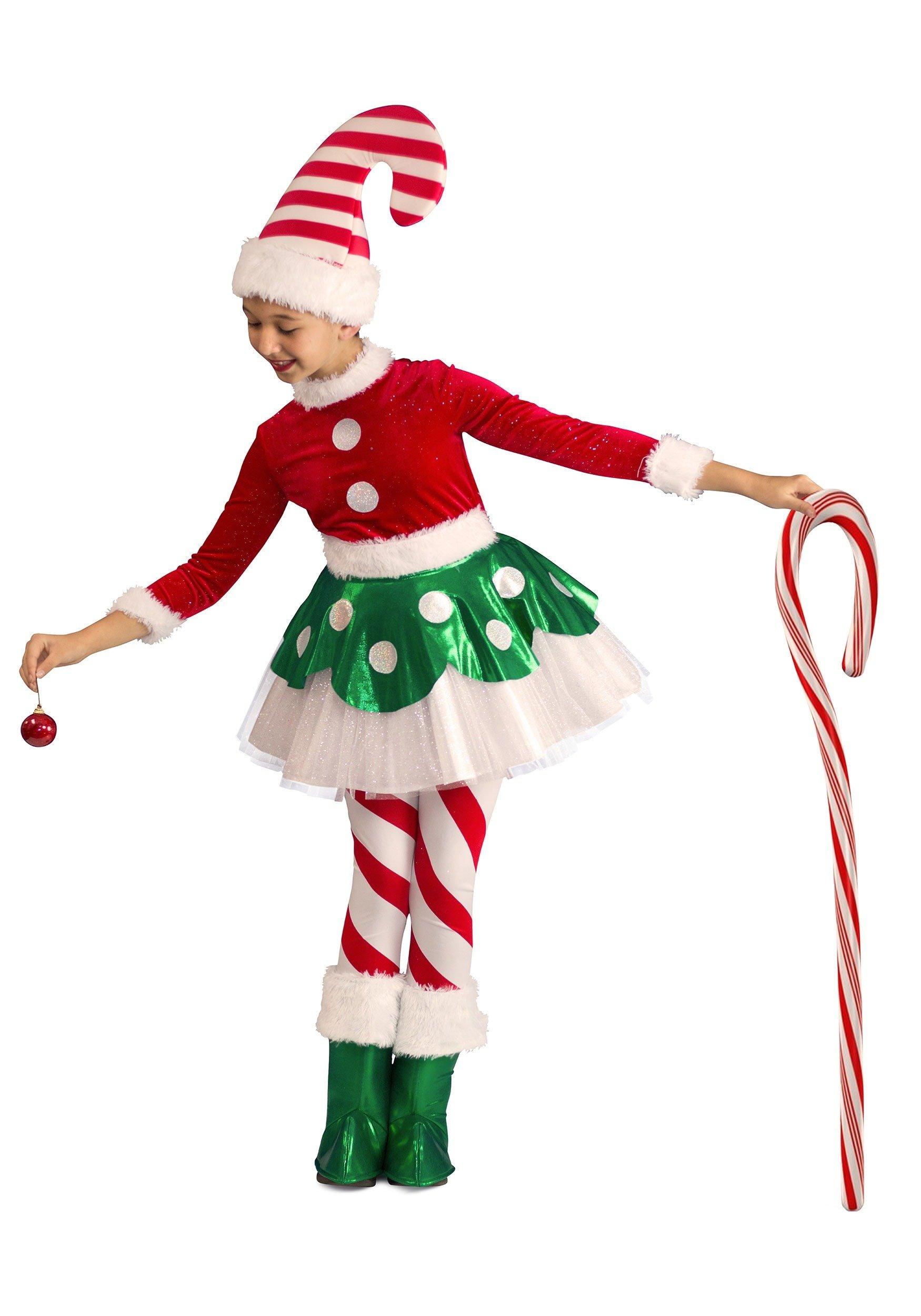 Toddler Candy Cane Elf Princess Small