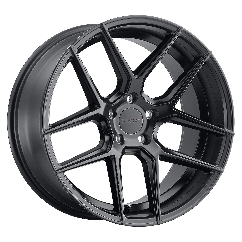 """TSW TABAC Custom Wheel - 19"""" x 9.5"""", 20 Offset, 5x120.65 Bolt Pattern, 76.1mm Hub - Semi Gloss Black Rim"""