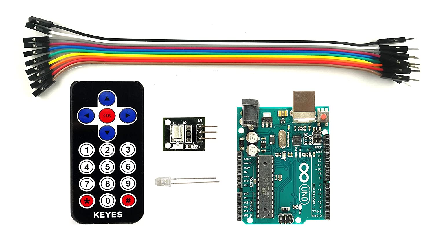 Roinco Ir Remote With Receiver Arduino Uno Compatible Board And 38khz Led Circuit