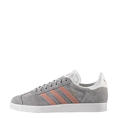 9c84908883c8 adidas Originals Women's Gazelle W Sneaker, Grey/Raw Pink/White, 11 M US